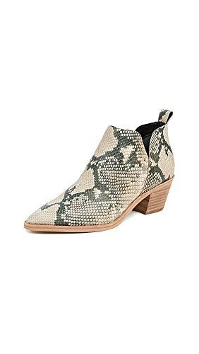 Dolce Vita Women's Sonni Block Heel Booties, Snake Print, 10 Medium US