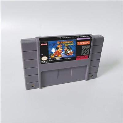 Game card - Game Cartridge 16 Bit SNES , Game The Magical Quest starring Mickey Mouse - Action Game Card US Version English Language