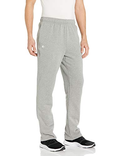 Starter Men's Open-Bottom Sweatpants with Pockets, Amazon Exclusive, Vapor Grey Heather, Extra Large