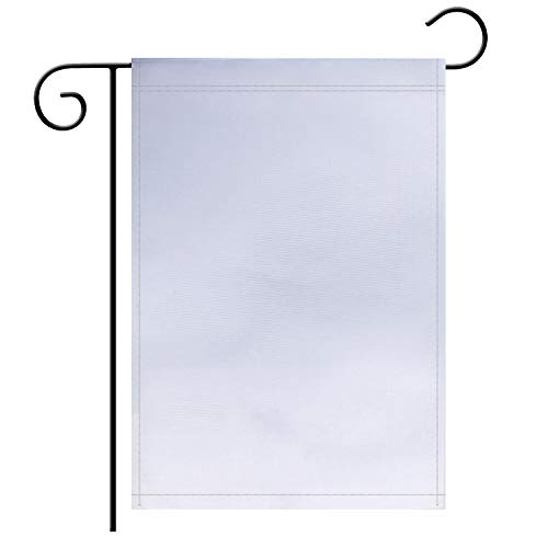 """TSMD Solid White Blank Garden Flag Double Sided Plain White DIY Flags,Outdoor Yard Decorative Flags,12""""x 18"""""""