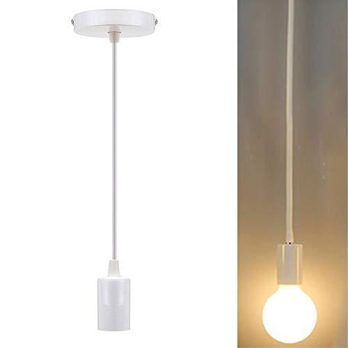 Chao Zan Portalàmparas con cable casquillo E27 lámpara de techo Accesorios de La Lámpara DIY Luces Decorativas Industrial...