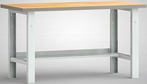 Metall-Meister Werkbank 1500 x 700 x 840 mm mit Höhenverstellung von 740-940 mm Selbstaufbau Modell WS513V-1500M40-X1582