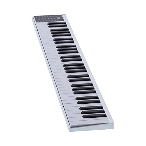 Teclado MIDI de Piano Inteligente Digital de 61 Teclas, Teclado de Piano Recargable, Kit de Instrumentos Musicales Multifuncional con Función de Metrónomo