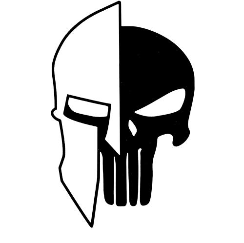 Wangchengp 9.7CMX15.2CM Sparta Helm Punisher Schedel Vinyl Motorfiets Decals Auto Sticker (5PS)