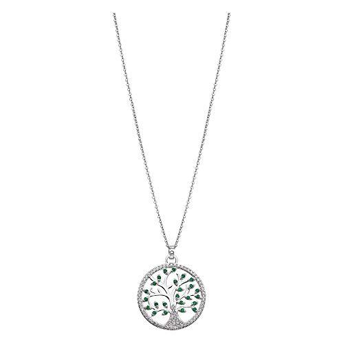 LOTUS Silver Collar con colgante del árbol de la vida LP1895-1/1, circonita, plata 925, JLP1895-1-1
