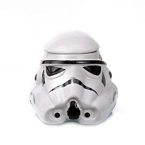 Star Wars Awesome Taza 3D de cerámica negra Darth Vader Stormtrooper casco taza creativas tazas y tazas (blanco)