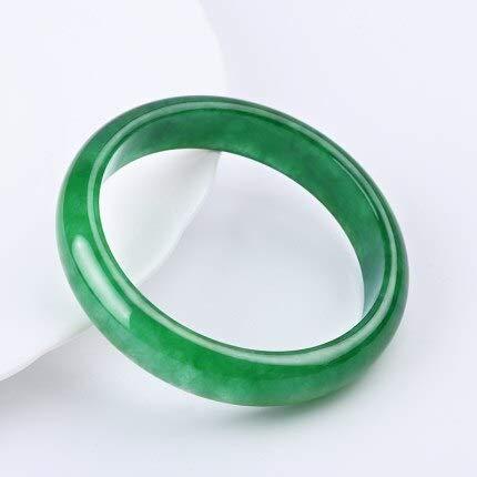 PINGGUO Natural Myanmar A Grado Esmeralda Pulsera Verde 54-64Mm Jade Pulsera Para Mamá Y Novia