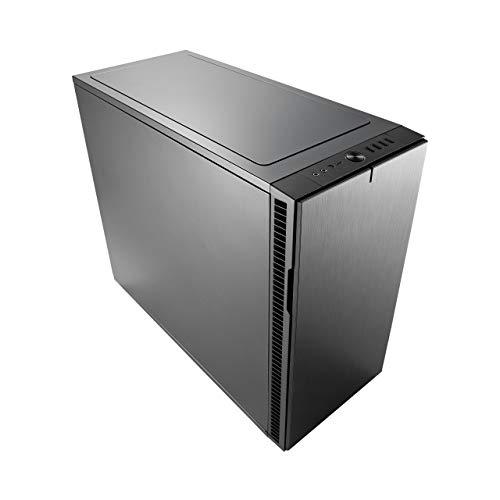Fractal Design Define R6 USB-C - Mid Tower Custodia computer - Ottimizzato per flusso d'aria elevato e elaborazione silenziosa - Interno modulare - Flusso d'aria - Layout aperto - Gunmetal
