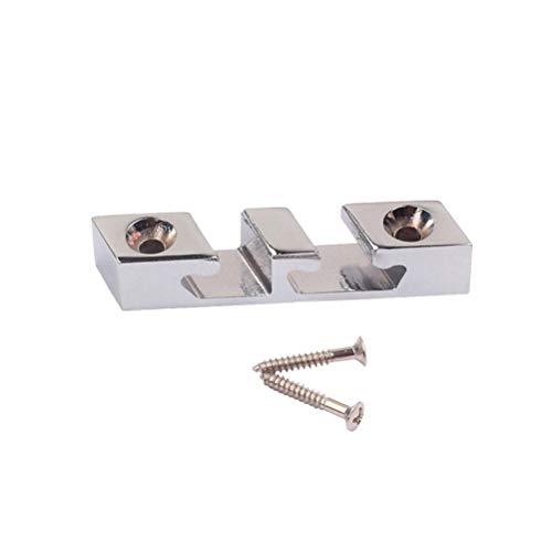 HEALLILY Metal Roller Retenedor de cadena Guía de árbol Aleación de zinc para 3 cuerdas Accesorios para partes de bajos de guitarra (color cromado)