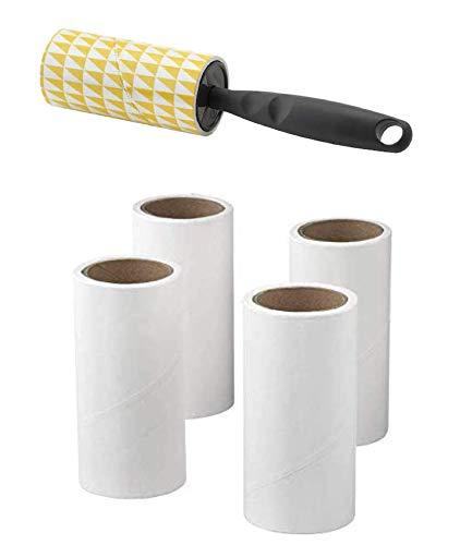 IKEA BASTIS - Rollo de pelo para mascotas (60 hojas + 4 rollos de reemplazo)