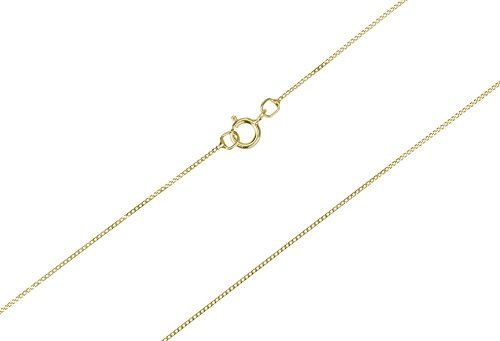 9ct Gold Fine Curb Chain (16 IN)
