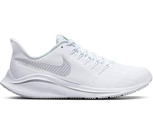 Nike WMNS Air Zoom Vomero 14 - White/metallic Silver-Aura, Größe:9