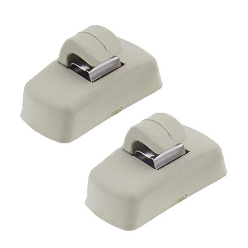 2 x Haken für Sonnenblende, kompatibel mit Transporter Caddy Golf Lupo Polo 3B0857561B 21312312231