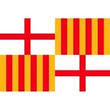 Grand Bandera de Ciudad de Barcelona 150*90 cm Satén Durabol .