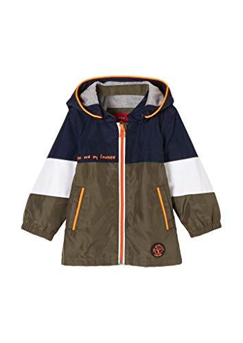 s.Oliver Unisex - Baby Wasserabweisende Jacke khaki 92