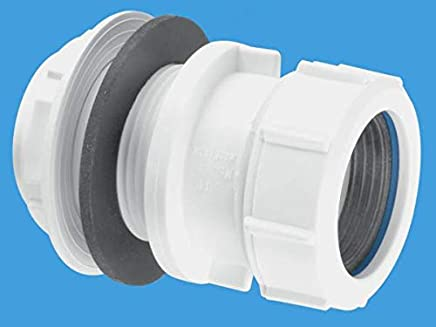 / blanco McAlpine wc-f26rv 170/  / 410/ mm recto conector Flexible WC con Vent Boss/