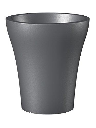 Scheurich 55455 264/43 No1 Style High Pot de Fleurs Plastique Gris Métallique 39 x 39 x 43 cm