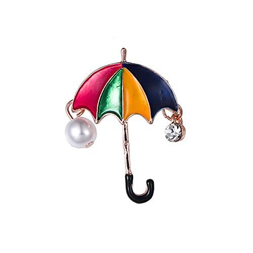 YYUKCDOG Broche Exquisito Y Lindo con Pedrería, Ramillete De Paraguas De Perlas, Accesorios De Ropa para Hombres Y Mujeres.