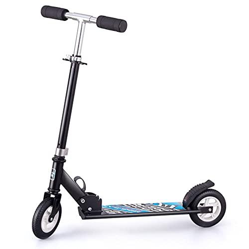 De múltiples fines Adecuado for adolescentes y adultos en scooters 2 ruedas altura adultos ajustables con ampliación PU Ruedas de absorción de choque aleación de aluminio marco de carga de carga 8 0KG