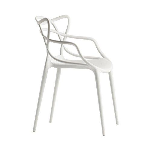Kartell Stuhl Masters weiß Philippe Starck mit Eugeni Quitllet, Polyethylen, durchgefärbt Master Stapelstuhl