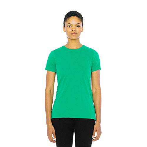 American Apparel Women's Fine Jersey Classic Short Sleeve Crewneck T-Shirt, Kelly Green, Large