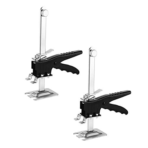 HTTC Sollevatore per la Regolazione dell'altezza delle Piastrelle del Braccio a Risparmio di manodopera, Strumento Manuale per Piastrelle da Parete, martinetto per Pannel T07-2 Pieces