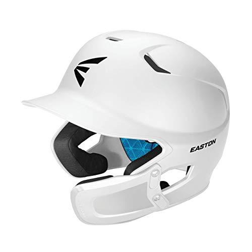 EASTON Z5 2.0 Batting Helmet w/ Universal Jaw Guard | Baseball Softball | Senior | Matte White | 2020 | Dual-Density Impact Absorption Foam | High Impact ABS Shell | Moisture Wicking BioDRI Liner