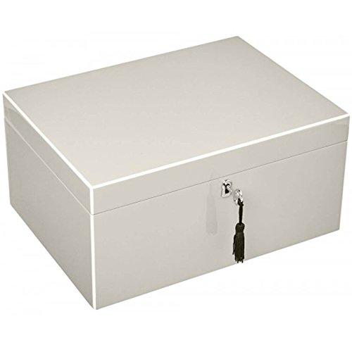 Gift Company 75668 Schmuckbox - Schmuckkasten - Schmuckschatulle Tang - L Sandstone/beige 31 x 15 x 23 cm
