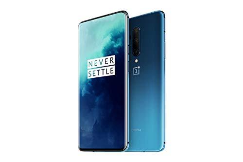 OnePlus 7T Pro - Smartphone Débloqué 4G (Ecran 6,67 pouces - 8Go RAM - 256Go Stockage - Ecran Amoled 90 Hz) Haze Bleu