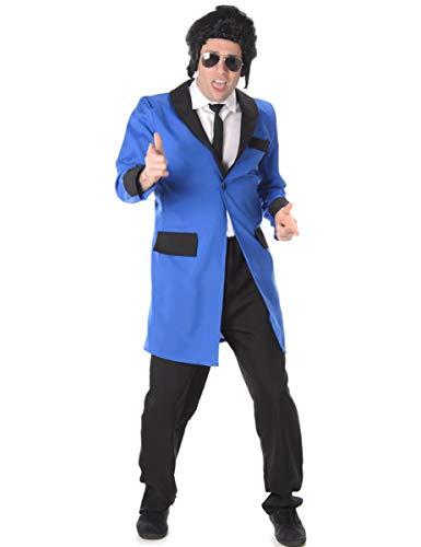 Teddy Boy Mens Fancy Dress 1950s 50s Rock n Roll Elvis Adult Costume Outfit