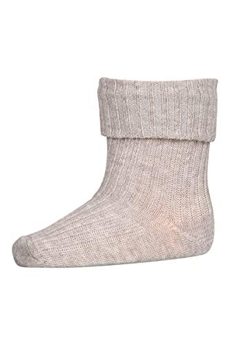 MP Denmark Cotton Rib Baby Socks Sand - Babysocken nordisch unisex (numeric_16)