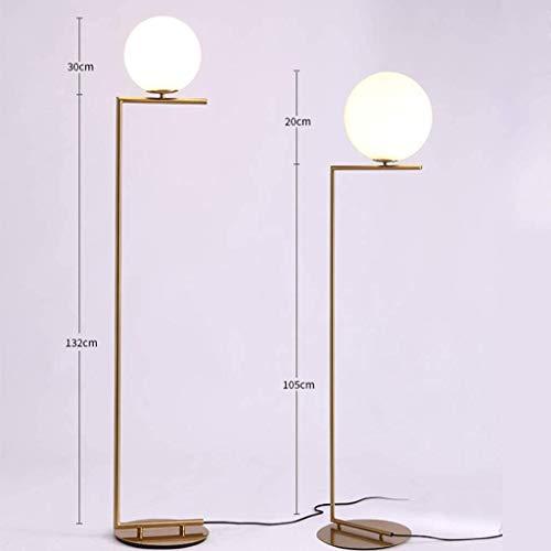 Vloerlamp Floor lamp LED E27 162 cm hoog Scandinavische stijl creatieve Moderne minimalistische glazen bolvormige vloerlamp binnen met pedaalschakelaar thuis, woonkamer, eetkamer, slaapkamer, studeerk