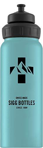 Sigg Unisex– Erwachsene Mountain Denim Touch Wasserflaschen, Blau, 1
