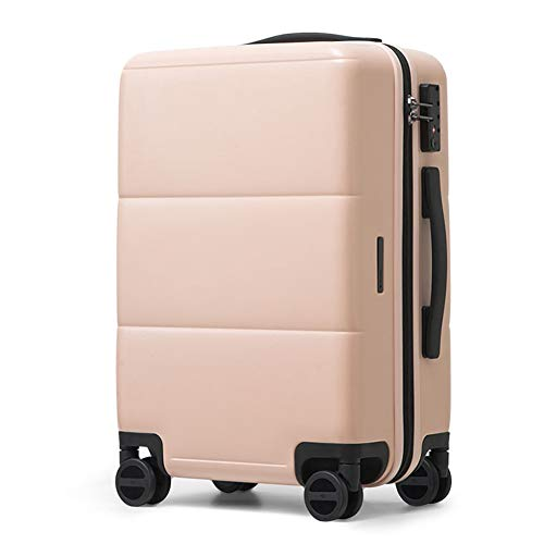 Bewinch Hard Shell Suitcase,Hold Luggage Suitcas,24 Inch, Carry on Hand Cabin Luggage Travel Trolley Lightweight Durable 4 Spinner Wheels,Pink
