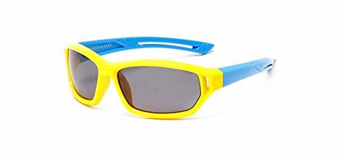 DAUCO Occhiali da Sole per Bambini Gommati UV400 Flessibili Lenti Polarizzate per Bimbi e...