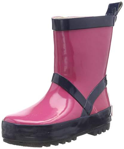 Playshoes Unisex-Kinder Uni Naturkautschuk Gummistiefel, Pink (Pink/Marine 644), 32/33 EU