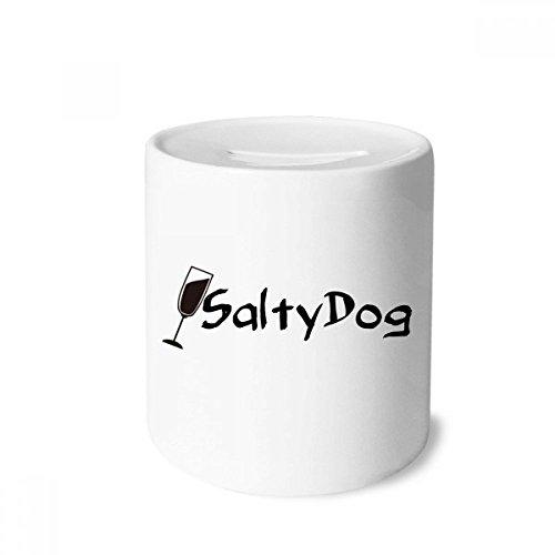 DIYthinker Salty Hund Salz Cocktail Mit Der Cup-Geld-Kasten Sparkassen Keramik Münzfach 3.5 Zoll in Height, 3.1 Zoll in Duruchmesser Mehrfarbig