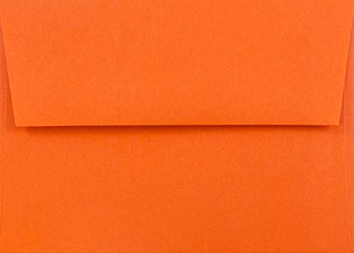 Pumpkin Orange 25 Boxed (5-1/4 x 7-1/4) A7 Envelopes for 5 X 7 Cards Invitations Announcements from The Envelope Gallery