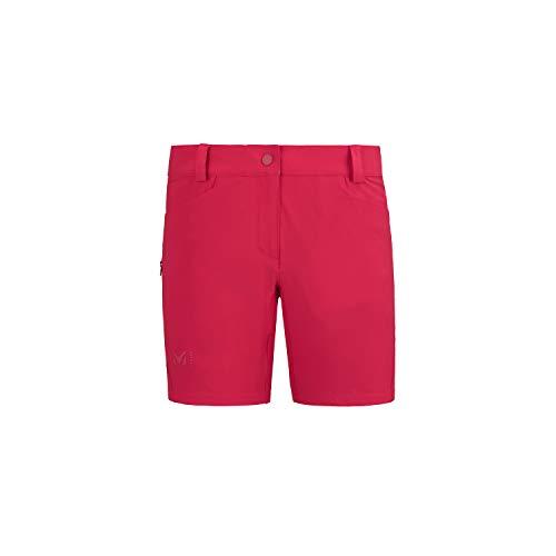 Millet - Trekker Stretch Short II W - Short Femme - Respirant - Randonnée, Trekking, Lifestyle - Rouge (Tango), FR : XS (Taille Fabricant : 34)