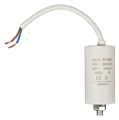 Fixapart W9-11208N Kondensator Weiß Fixed Capacitor Zylindrische - Kondensatoren (Weiß, Fixed Capacitor, Zylindrische, 8000 nF, 5%, 450 V)