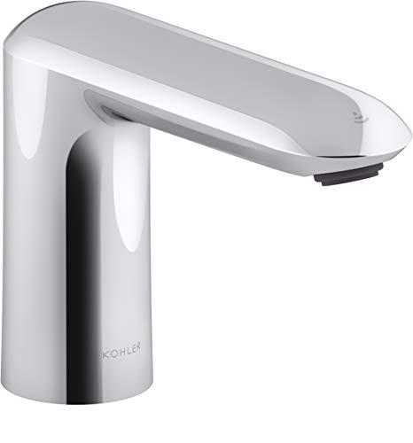 Kohler K-104K36-SANA-CP Kumin Touchless Grifo para lavabo de baño con tecnología de sensor Kinesis, alimentado por CC, acabado cromado