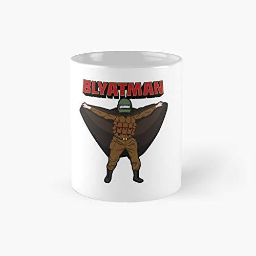 Blyatman Classic Mug Best Gift Funny Coffee Mugs 11 Oz