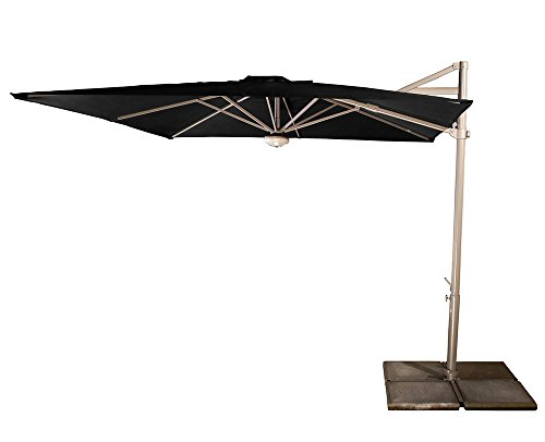 PEGANE Parasol Cielo Plus Anthracite Anti-UV inclinable carré, 260 x 260 cm