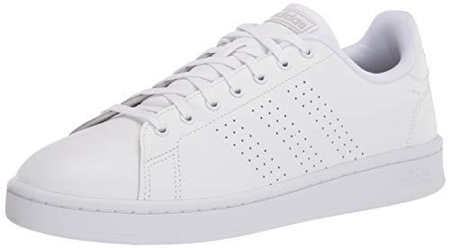 adidas Men's Advantage Sneaker, White/White/Grey, 10