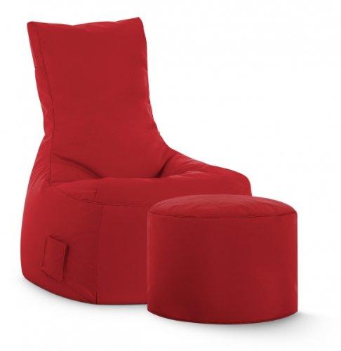 SITTING POINT only by MAGMA Sitzsack-Set Scuba Swing + Hocker rot