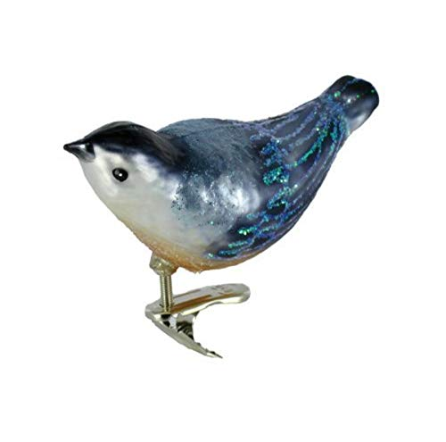 Old World Christmas Nuthatch Ornaments:Nuthatch Glass Blown Ornaments for Christmas Tree
