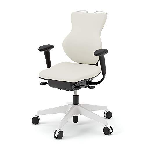 イトーキ オフィスチェア カシコ ハンガー付 T型肘 背ホワイト 脚ホワイト オフホワイトC KE348DLHM-WWC8