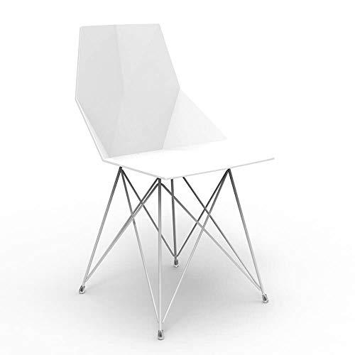 Vondom Faz chaise avec pieds en métal verni noir