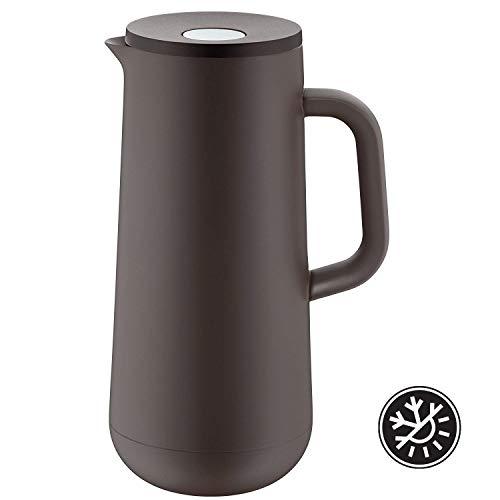 WMF Isolierkanne Thermoskanne IMPULSE taupe 1,0l für Kaffee oder Tee Druckverschluss 24h kalt & warm