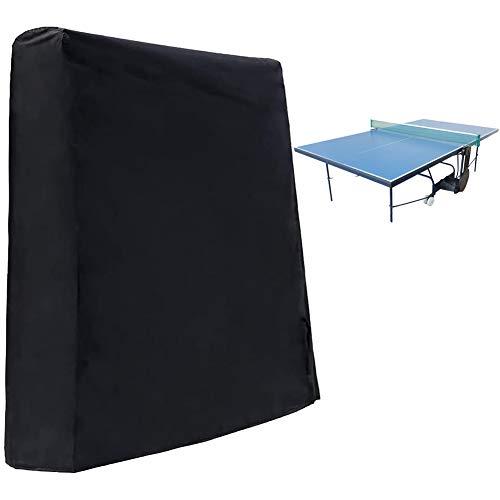 Panngu Premium Tischtennisplatte Abdeckung, Abdeckhülle für Tischtennisplatten mit Elastisches Seil, Ping Pong Schutzhülle Wasser und UV beständig für Gartentische und Möbelsets 165×70×185cm
